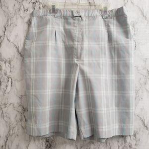 Tail Plaid Bermuda Shorts Gray and blue